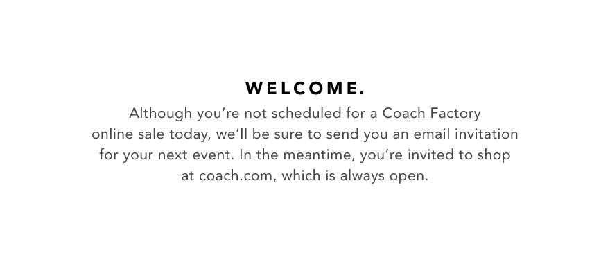 coach factory outlet online store sale 7hcm  Welcome_NoSale_880_white_1